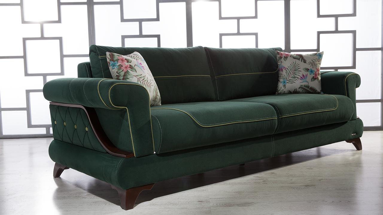 5+1 τρόποι να συνδυάσετε έναν πράσινο καναπέ