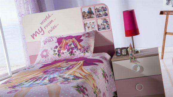 Παιδικό Κρεβάτι Portivo Pink