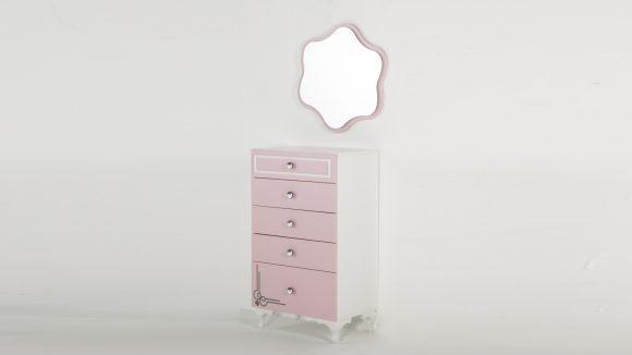 Παιδική Συρταριέρα & Καθρέφτης Lady | ISTIKBAL