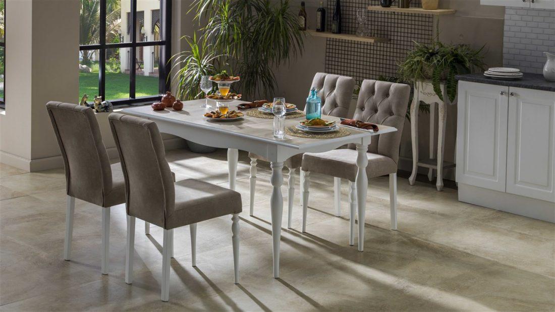 Nesta Τραπεζαρία Κουζίνας White Oak   Istikbal