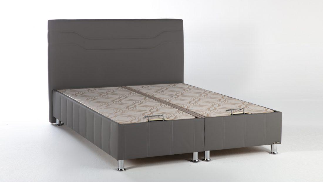 Κρεβάτι Ferro Escudo Tortora Τεχνόδερμα